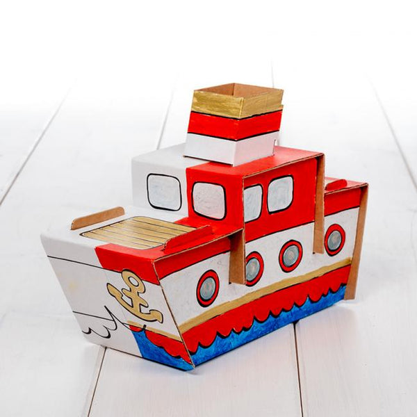 Calafant level 1 activity model - Steamer ship - Art and craft - [Little_Sotty]