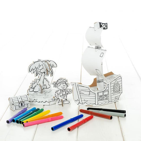 Calafant level 2 activity model - Pirate ship - Art and craft - [Little_Sotty]
