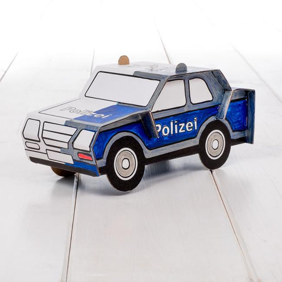Calafant level 1 activity model - Police car - Art and craft - [Little_Sotty]