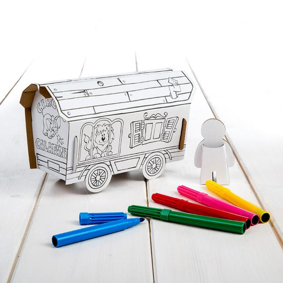 Calafant level 1 activity model - Circus Wagon - Art and craft - [Little_Sotty]