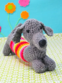 BUTTONBAG - CROCHET SAUSAGE DOG - Art and craft - [Little_Sotty]