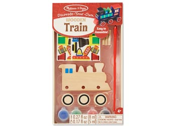 Decorate-Your-Own Wooden Train - Art and craft - [Little_Sotty]