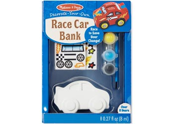 Decorate-Your-Own Race Car Bank - Art and craft - [Little_Sotty]