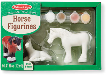 Decorate-Your-Own Horse Figurines - Art and craft - [Little_Sotty]