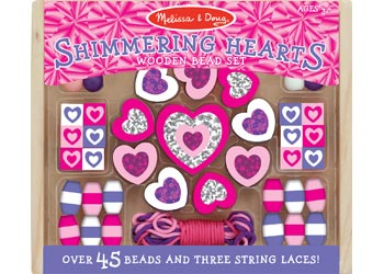 Shimmering Hearts Wooden Bead Set - Art and craft - [Little_Sotty]
