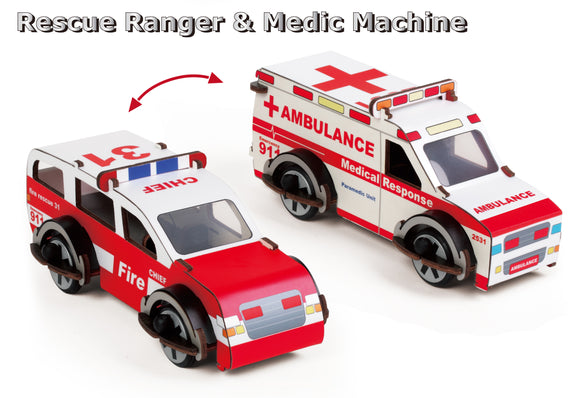 Buildex - Rescue Ranger & Medic Machine - Other fun stuff - [Little_Sotty]
