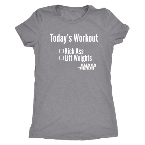 Image of Kick Ass - As Many Reps As Possible - Women's Triblend Tee