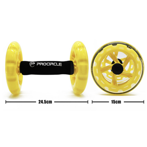 ProCircle 3-IN-1 Exercise Wheels with Kneeling Mat
