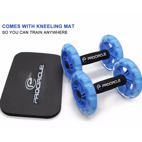 Image of ProCircle 3-IN-1 Exercise Wheels with Kneeling Mat