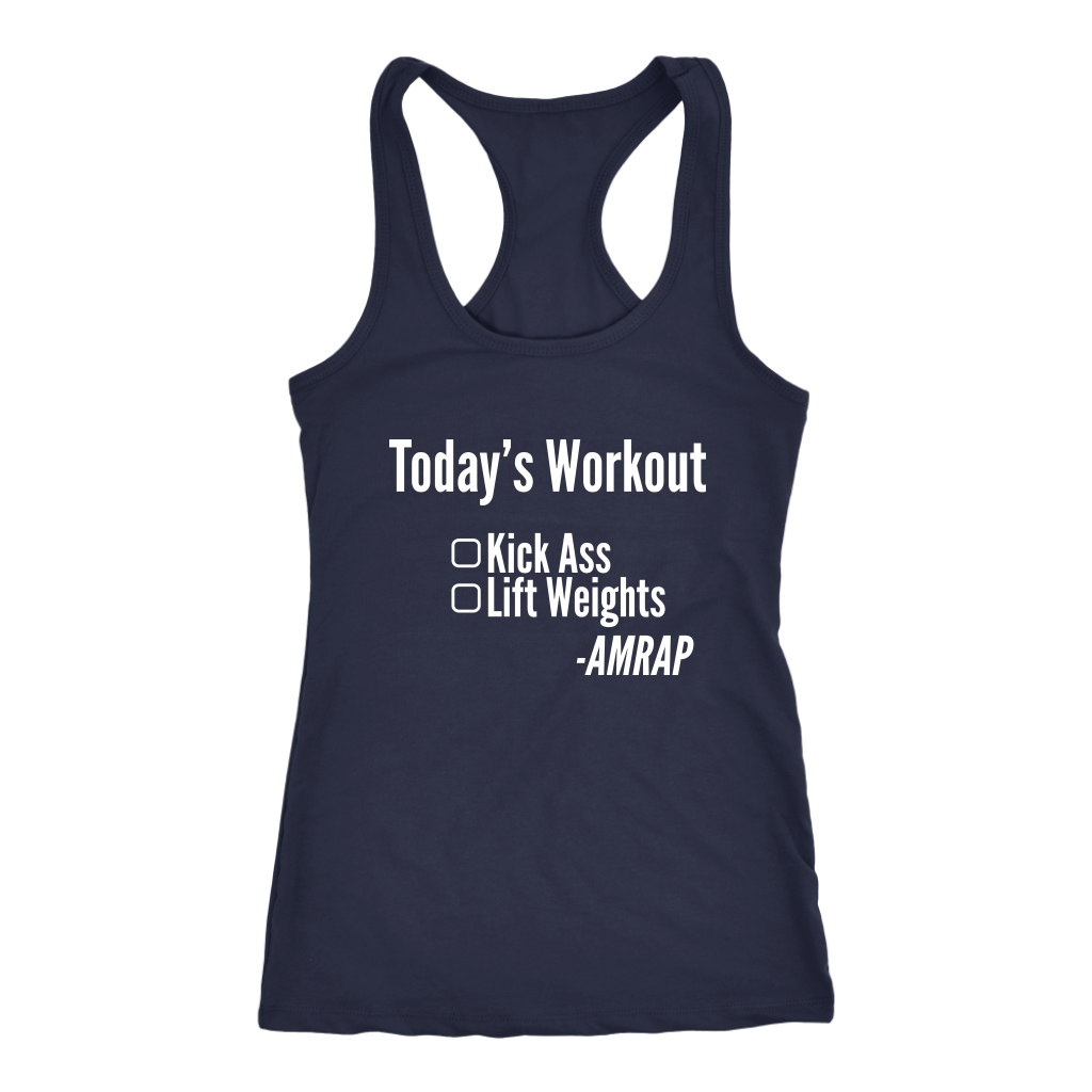 Kick Ass - As Many Reps As Possible - Women's Racerback Tank