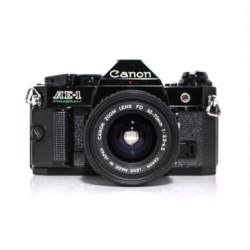 CANON AE-1 Program SLR W/ Canon FD 35-70mm Lens