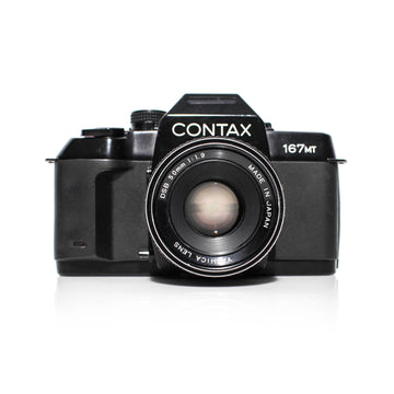 CONTAX 167MT 35mm SLR Film Camera W/ Yashica AE Lens DSB 50mm F1.9