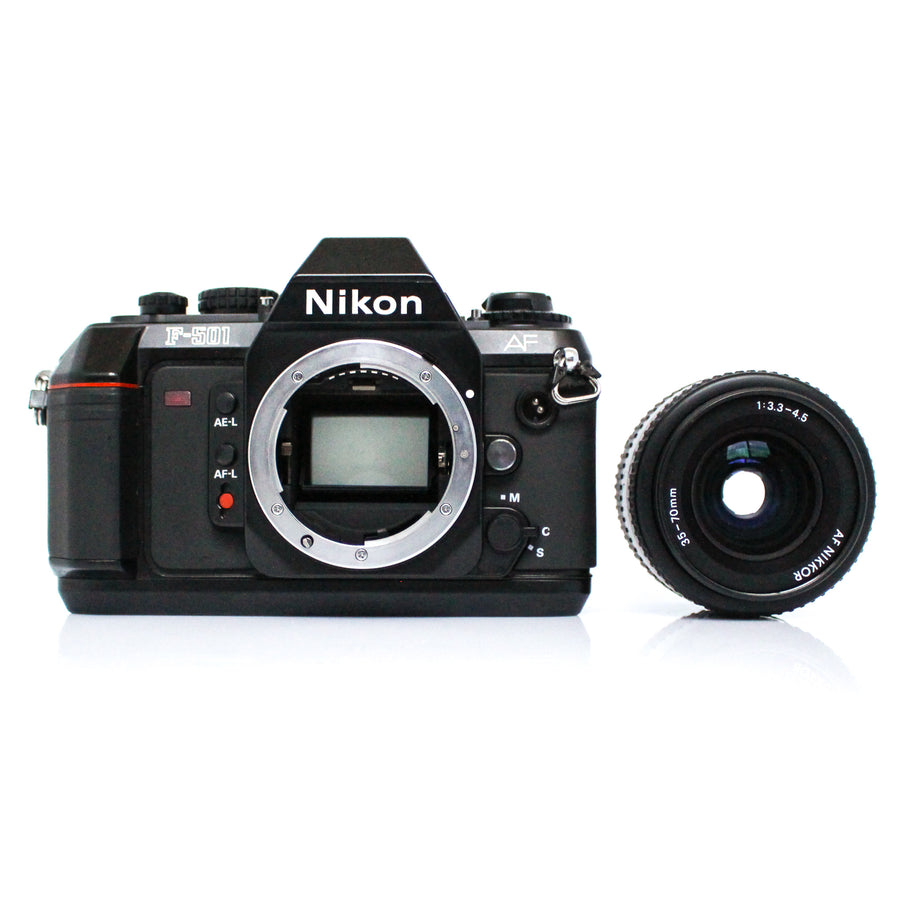 NIKON F-501 Autofocus 35mm SLR Film Camera W/ Nikkor AF Lens 35-70mm