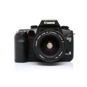 CANON EOS 55 Autofocus 35mm SLR Film Camera W/ Canon Zoom Lens EF 28-80mm