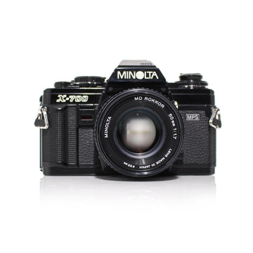 MINOLTA X-700 35mm SLR Film Camera W/ MD Rokkor 50mm f1.7 Lens