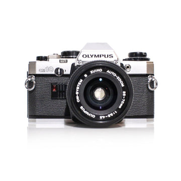 OLYMPUS OM-10 SLR 35mm Film Camera W/ OM-System Zuiko 35-70mm Lens