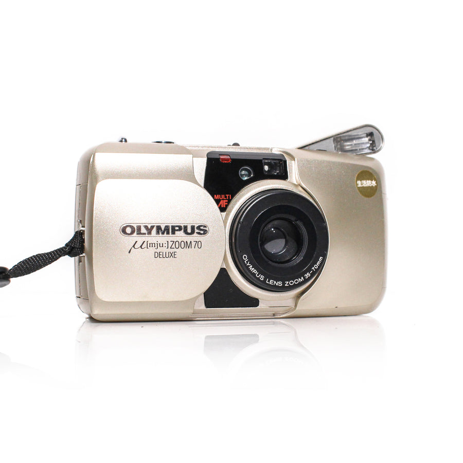 OLYMPUS µ[Mju:] Stylus Zoom 70 Deluxe 35-70mm Point and Shoot Film Camera - WWW.BEGINNINGFILM.SHOP - BEGIN FILM - BEGINNING FILM - SYDNEY AUSTRALIA - FILM CAMERA - beginners friendly film camera