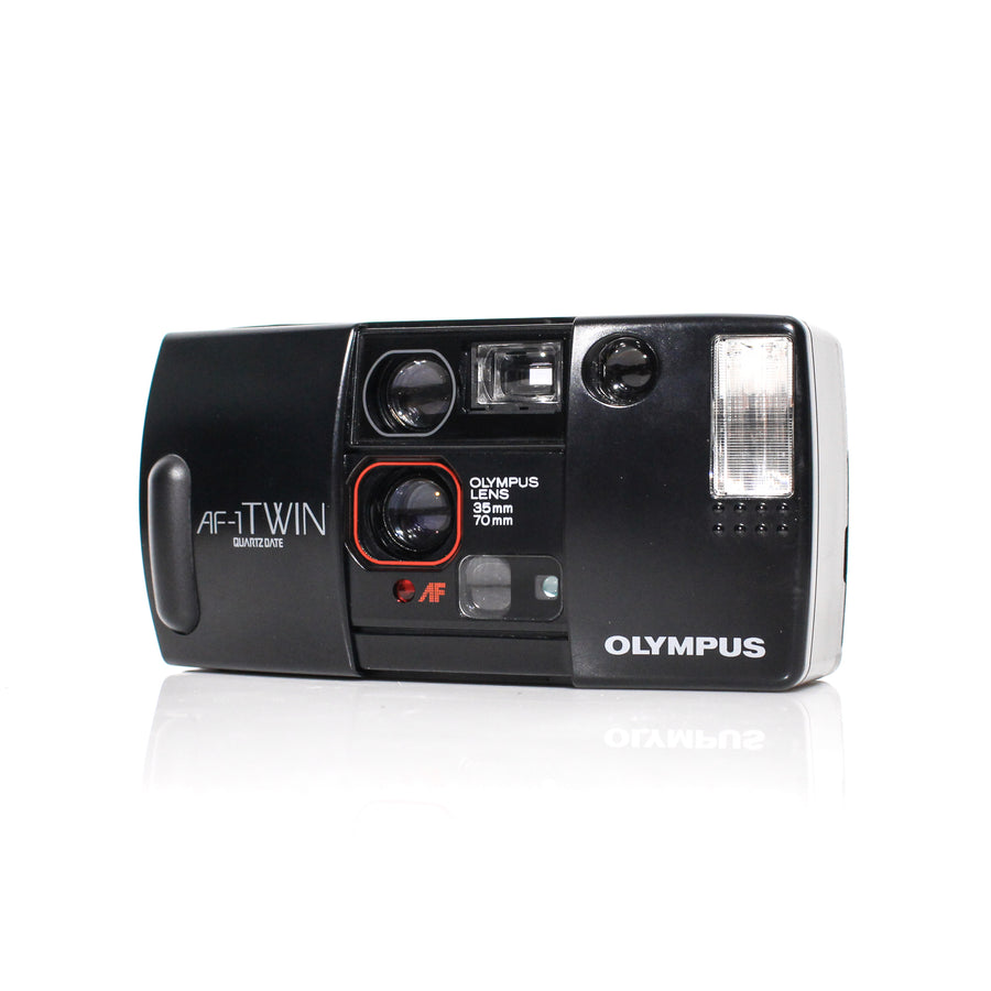 OLYMPUS AF-1 Twin 35/70mm Dual Lens Point and Shoot 35mm Film Camera #1705615