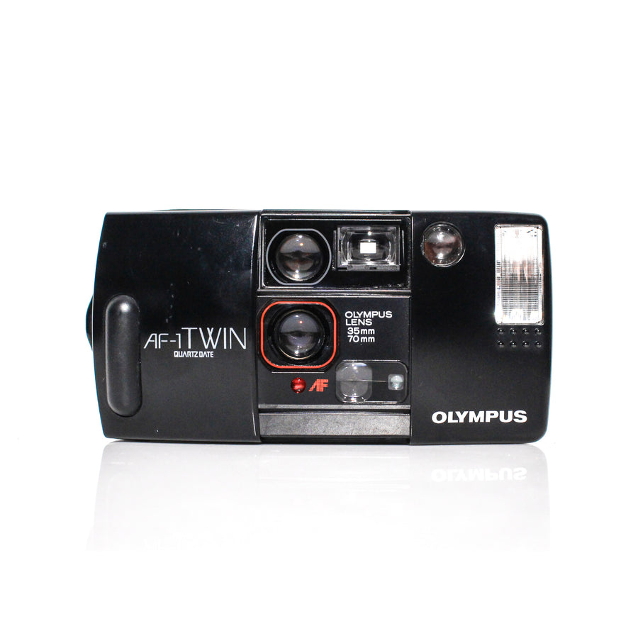 OLYMPUS AF-1 Twin 35/70mm Dual Lens Point and Shoot 35mm Film Camera
