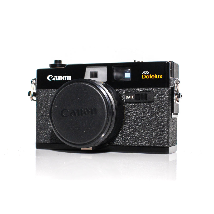 CANON A35 Datelux (1977) 40mm f/2.8 Rangefinder 35mm Film Camera