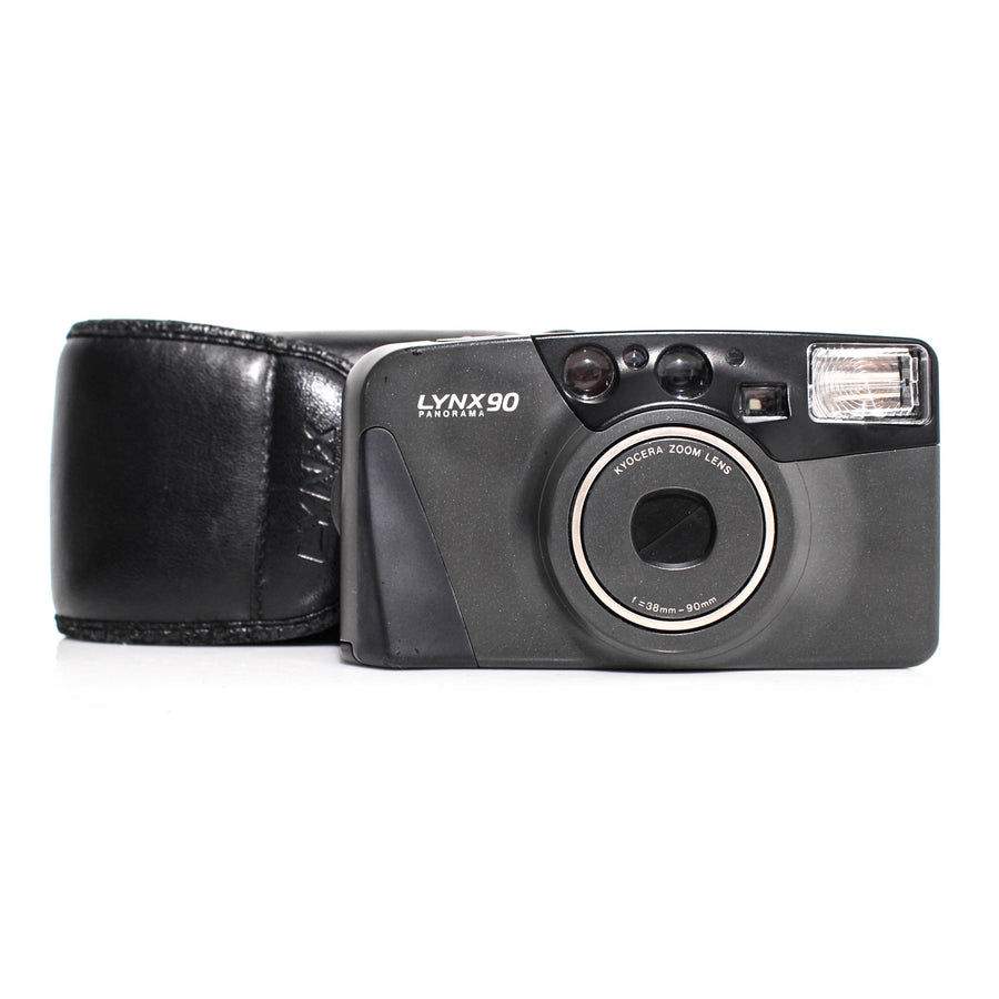 KYOCERA LYNX 90 Zoom 38-90mm Point and Shoot Film Camera [With Case]