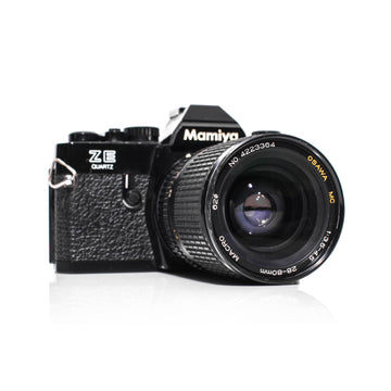 Mamiya ZE Quartz SLR Film Camera W/ Osawa MC 28-80mm Lens