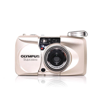 OLYMPUS µ[Mju:] Stylus Zoom 160 Point and Shoot Film Camera #4430370 [With Case]