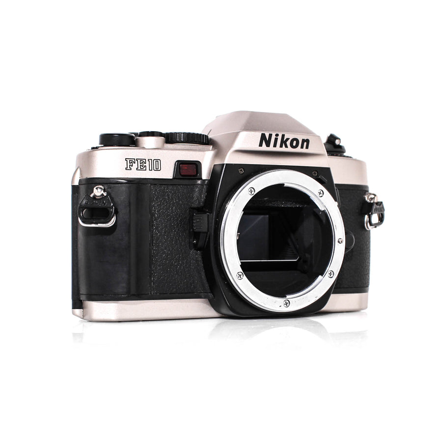 NIKON FE10 SLR Film Camera W/ Zoom-Nikkor Ai 36-72mm Lens