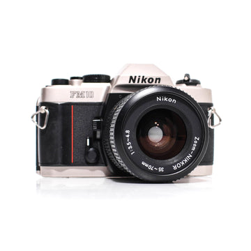 NIKON FM10 SLR Film Camera W/ Zoom-Nikkor Ai 35-70mm Lens #2056868
