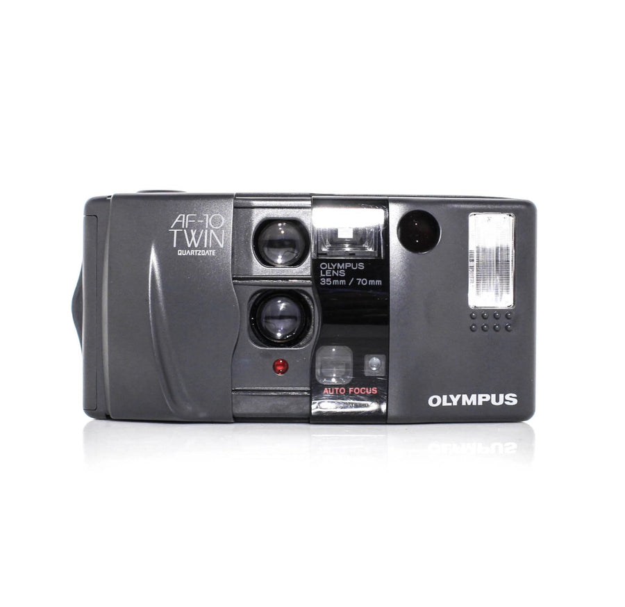 OLYMPUS AF-10 Twin Point and Shoot 35mm Film Camera