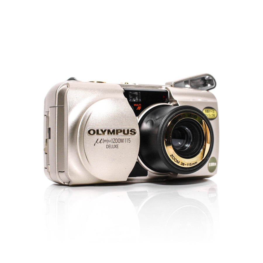 OLYMPUS µ[Mju:] Zoom 115 Deluxe 38-115mm Point and Shoot Film Camera