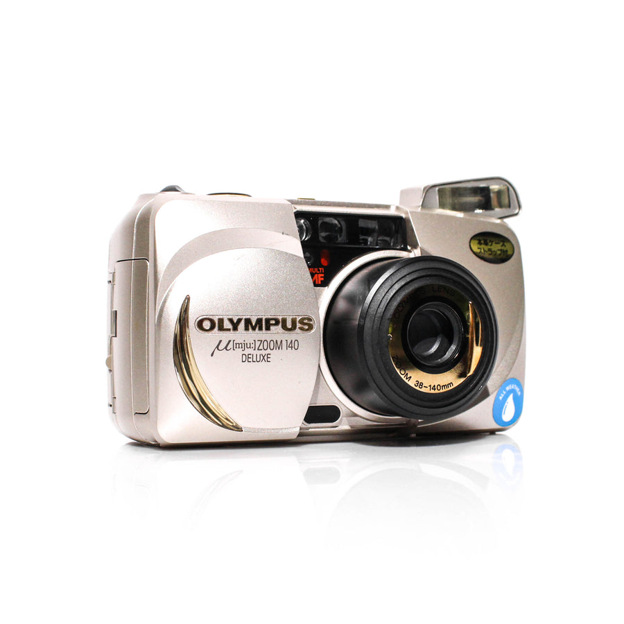 OLYMPUS µ[Mju:] Stylus Zoom 140 Deluxe 38-140mm Point and Shoot Film Camera #6430