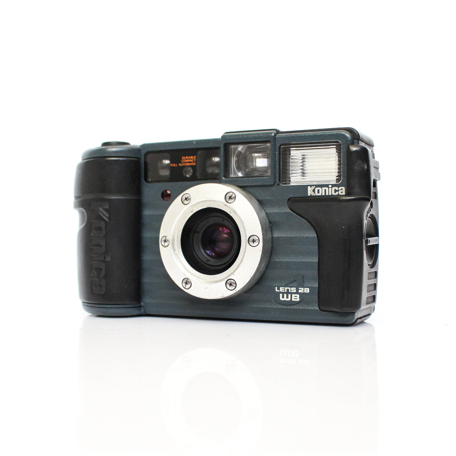 KONICA Wide 28/Genba Kantoku 28 28mm f/3.5 Waterproof Dust Sand Proof Anti-Shock Heavy Duty Compact Film Camera (Rare)