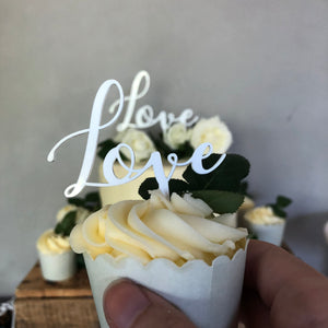 Cupcaketoppers - Love /5 styks