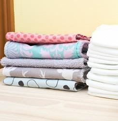 2 stacks of folded towels