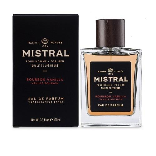 Mistral Men's Cologne- Bourbon Vanilla Scent (3.4 fl.oz) - The Soap Opera Company