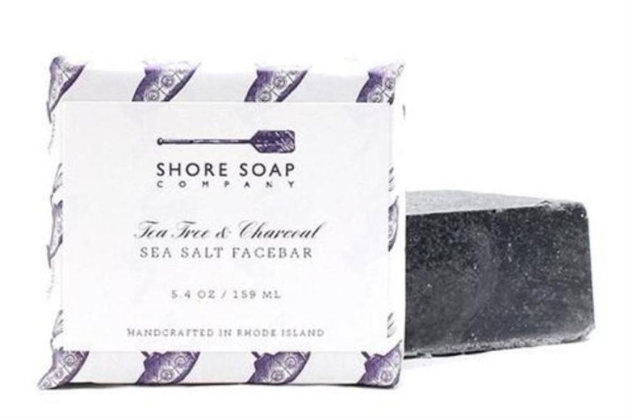 Shore Soap Co - Tea Tree & Charcoal Face Bar 5.4oz/159ml - The Soap Opera Company