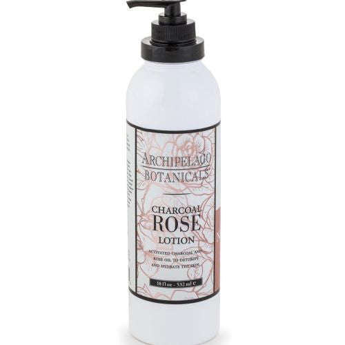 Archipelago Charcoal Rose Body Lotion (18oz) - The Soap Opera Company
