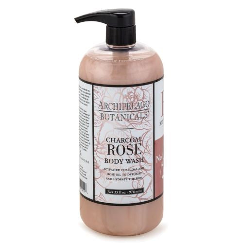 Archipelago Charcoal Rose Body Wash (32oz) - The Soap Opera Company