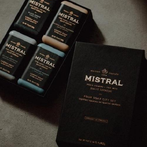 Mistral Men's 4 Soap Gift Set (4X8.8oz)