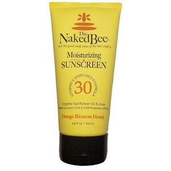 Naked Bee -  Orange Blossom Honey Sunscreen, SPF 30 (5.5 oz) - The Soap Opera Company