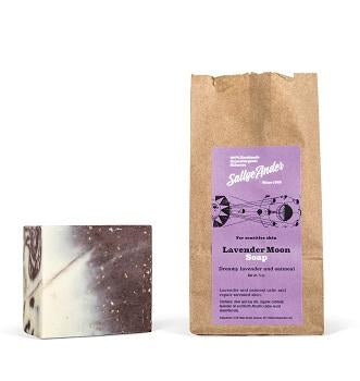 SallyeAnder Lavender Oat Swirl Block Soap (5oz) - The Soap Opera Company