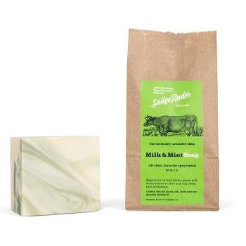 SallyeAnder Milk n Mint Block Soap (5oz) - The Soap Opera Company