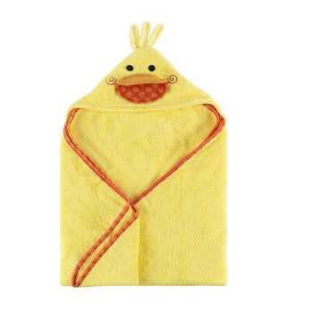 Zoochini Baby Plush Terry Hooded Towel - Puddles the Duck - The Soap Opera Company