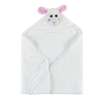 Zoochini Baby Plush Terry Hooded Towel - Lola the Lamb