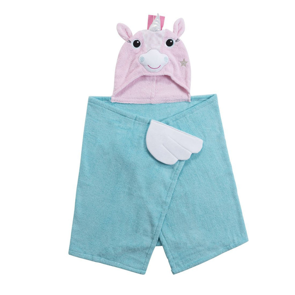 Zoochini Child Plush Terry Hooded Towel - Allie the Alicorn - The Soap Opera Company