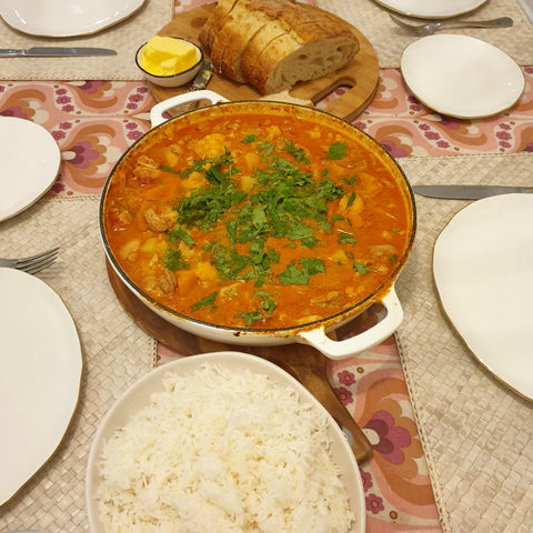 pan of home cooked butter chicken