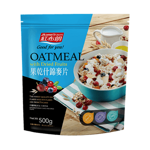 HomeBrown Instant Oatmeal with Dried Fruits (500g)