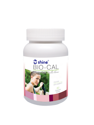 Shine Bio-Cal Natural Seaweed Calcium Chewable Tablet (Vanilla Flavour)