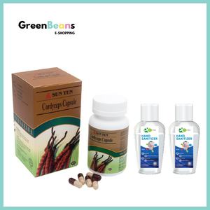 1+2 Combo: Cordyceps Capsule + ProCare Hand Sanitizer 50ml x 2